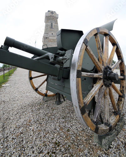 In de dag Monument cannon of the first world war and the ossuary