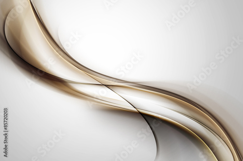 Abstract Brown Waves On Gray Background
