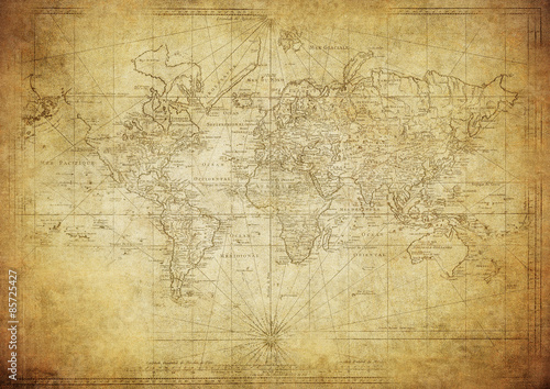 Acrylic Prints World Map vintage map of the world 1778