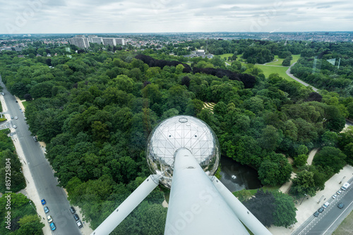 View from the top of the Atomium. Brussels, Belgium Wallpaper Mural