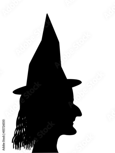 Halloween Cartoon Witch Face.Witch Face Profile Silhouette Halloween Etc Buy This Stock