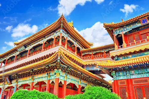 Fotografia Beautiful View of Yonghegong Lama Temple.Beijing. Lama Temple is
