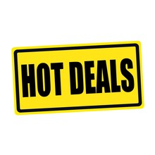 Hot Deals Black Stamp Text On Yellow