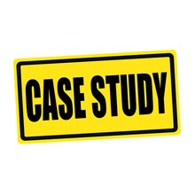 Case Study Black Stamp Text On Yellow