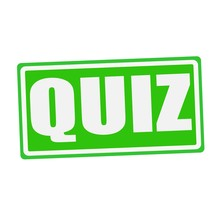 QUIZ White Stamp Text On Green