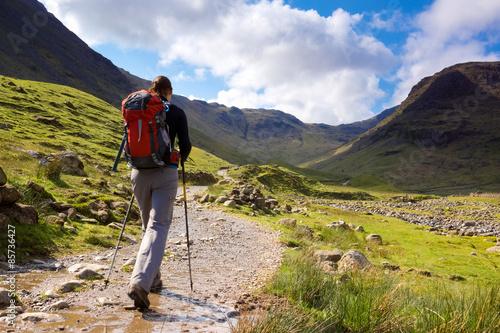 Fotografie, Obraz  Fell walking in the Lake District