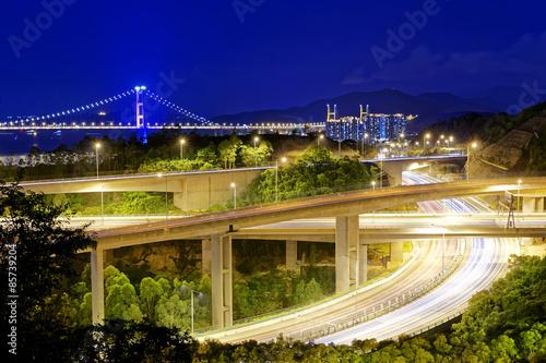 Photo  Highway traffic road