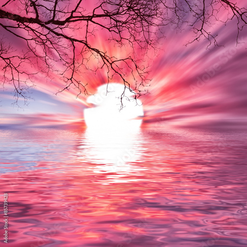 Foto op Canvas Candy roze Beautiful landscape