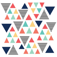Fototapeta Abstrakcja Triangle pattern color variation
