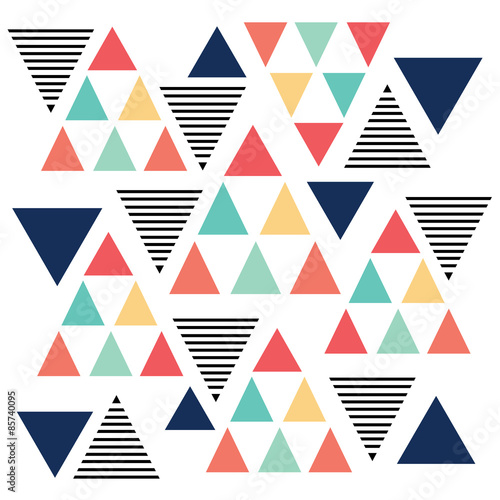 Fotografie, Obraz  Triangle pattern color variation