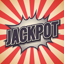 Jackpot Graffiti. Comic Speech Bubble. Vector Illustration