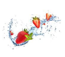 Fresh Strawberries In Water Sp...