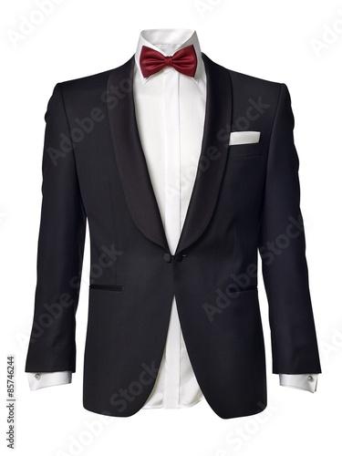 Obraz na plátně mens tuxedo jacket isolated on white