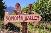Sonoma Valley Wooden Sign With...