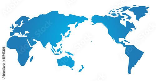 世界地図・シンプル - simple world map -