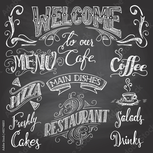Fotografija  Cafe chalkboard hand-lettering