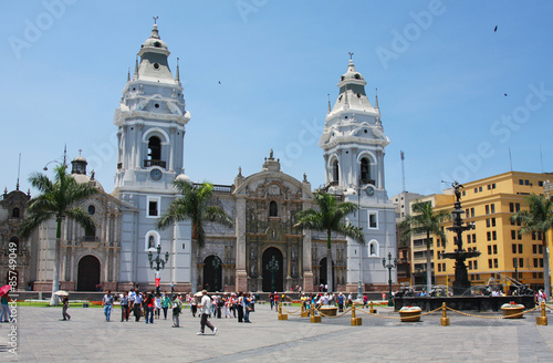 Canvas Prints South America Country Lima Cathedral in Peru