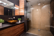 Bathroom With Fancy Shower