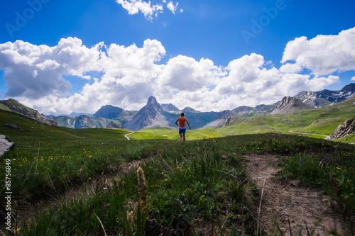 Fotografie, Obraz  Running on the Alps mountains