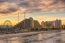 Skyline Of Daytona Beach, Florida
