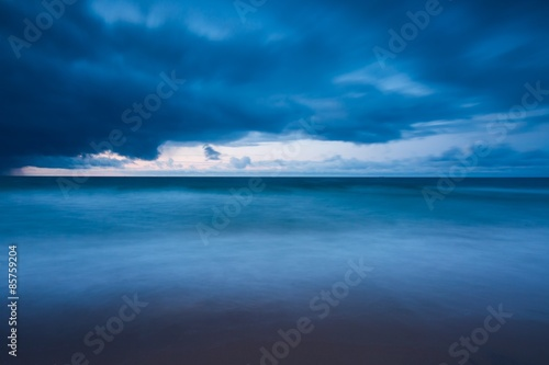Baltic shore with dramatic sky Poster