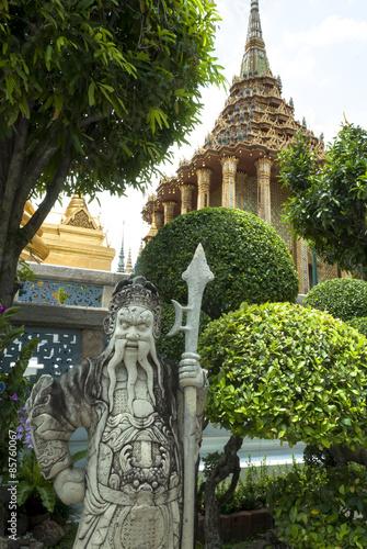 Thailand,Bangkok,Wat Phra Kaew,statue stone Poster
