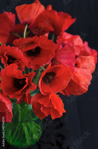 Poster Poppy Bouquet of poppies