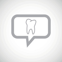 Tooth Grey Message Icon