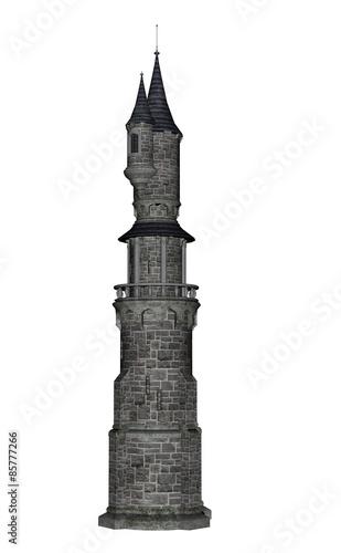 Castle tower - 3D render Wall mural