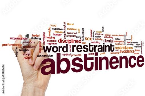 Abstinence word cloud Canvas Print