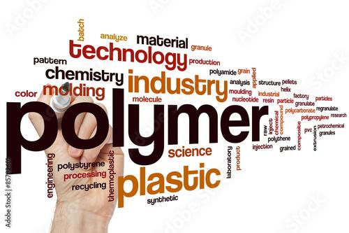 Fotografía  Polymer word cloud