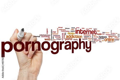 Fotografie, Obraz  Pornografie slovo mrak