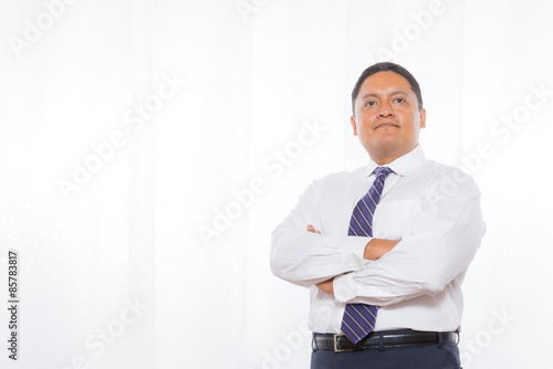 Fotografie, Obraz  Professional Hispanic Male In Suit With Confident Expression