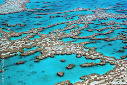 In de dag Australië Aerial View Great Barrier Reef Australia-3