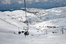 Ski Center On Mount Hermon In Israel.