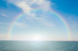 Tropical sea and sky with rainbow