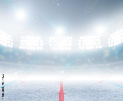 Ice Hockey Rink Stadium Wallpaper Mural