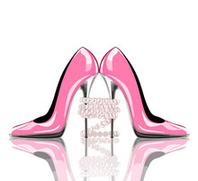 Elegant Pink, High Heel Shoes ...