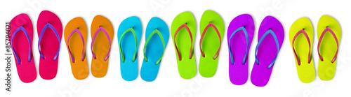 Multi-colored flip-flops