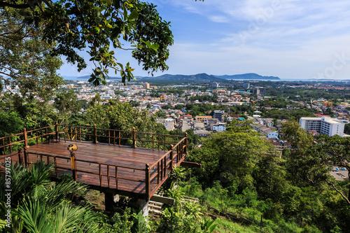 Fotografie, Obraz  Phuket city view point at Rang hill, Thailand