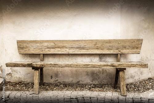 Photo vecchia panchina di legno