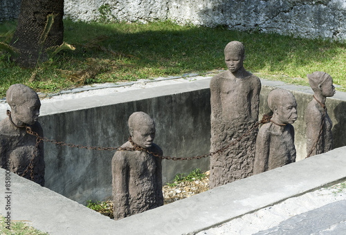 Zanzibar, Stone Town, the slave memorial near the Anglican church