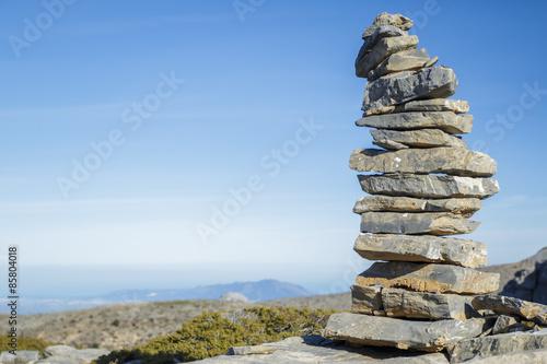 Fotografie, Obraz  Pile of stone at the mountain