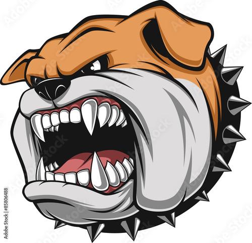 Angry dog Canvas Print