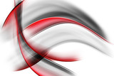 Red Black Abstract Waves - 85808055
