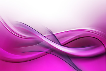 Panel Szklany Dym Abstract Fractal Purple Pink Waves Background