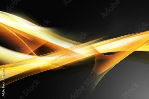 Elegancka żółta pomarańczowa kompozycja fraktalna