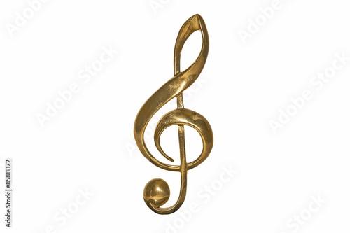 Obraz na płótnie Golden treble clef