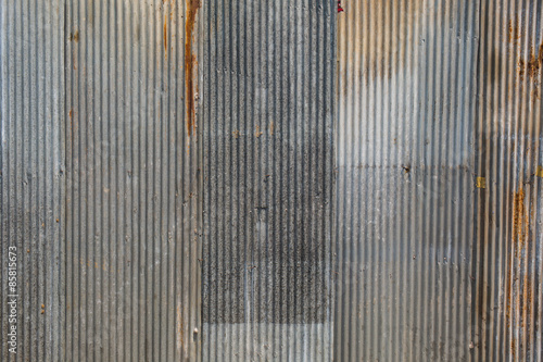 Foto  A rusty corrugated iron metal texture.
