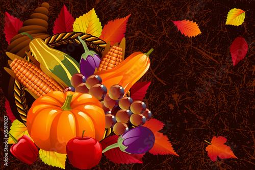 Fototapety, obrazy: Cornucopia,  Thanksgiving Background
